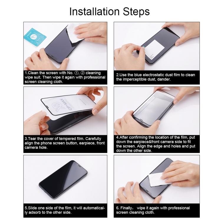 Защитное стекло для Айфон 12 Про Макс - черное