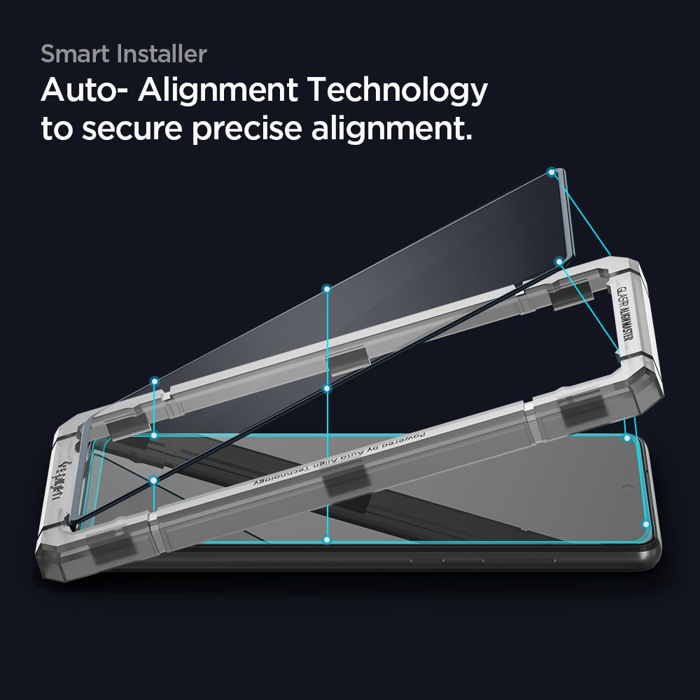Защитное каленое стекло Spigen Alm Glass Fc для Samsung Galaxy A72 - Black