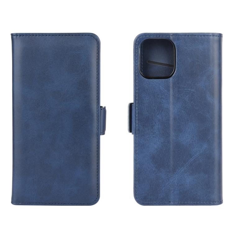 Чехол-книжка Dual-side Magnetic Buckle для iPhone 12/12 Pro  - синий