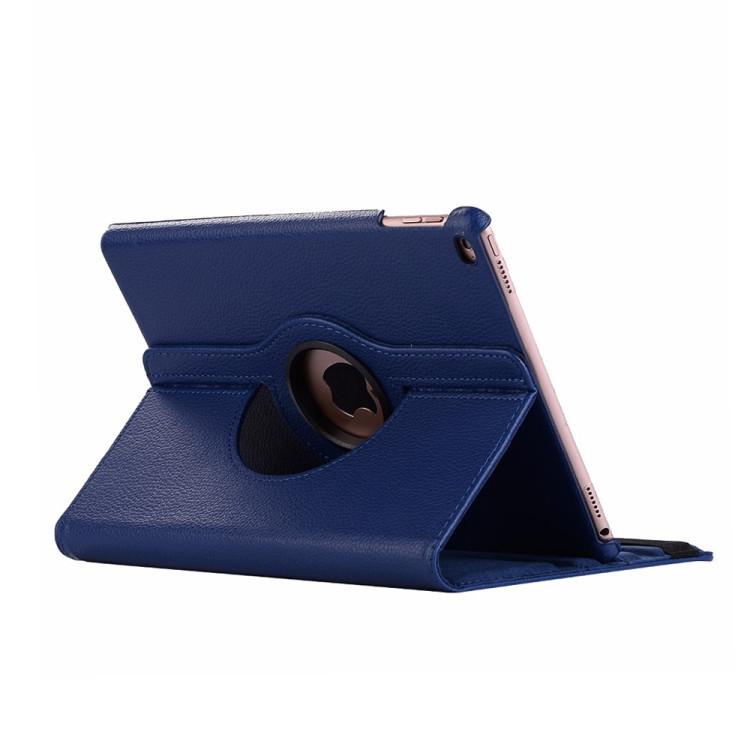 Кожаный Чехол 360 Degree Litchi Texture на Айпад Мини 5 (2019)/ Мини 4 -темно-синий
