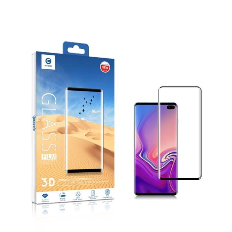 3D защитное стекло mocolo 0.33mm 9H на Samsung Galaxy S10, Fingerprint Unlock Is Not Supported -черное