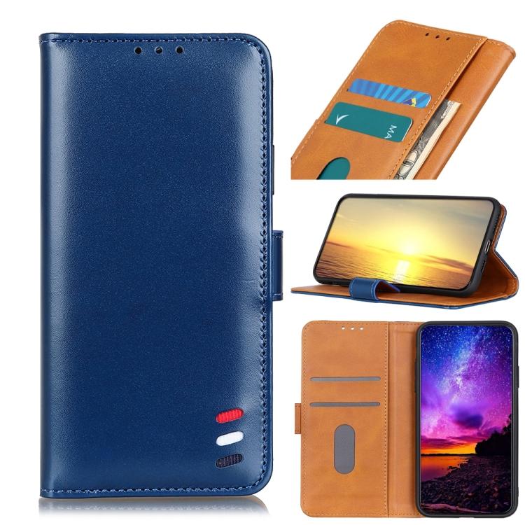 Чехол-книжка 3-Color Pearl на Samsung Galaxy A22 4G - синий