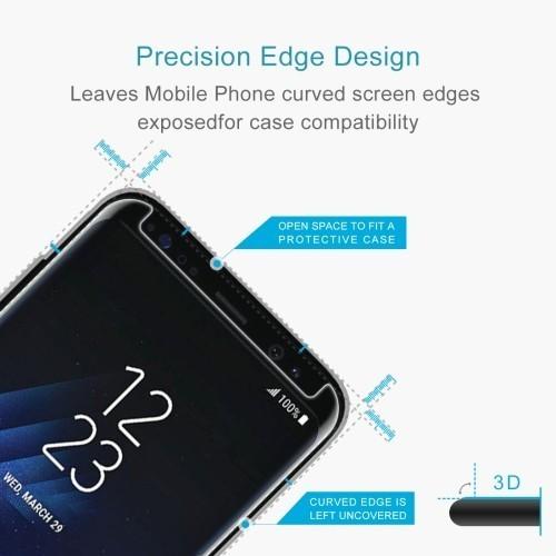 Защитное стекло 3D с изогнутыми краями 0.26mm 9H подходит ко всем чехлам для Samsung Galaxy S8+