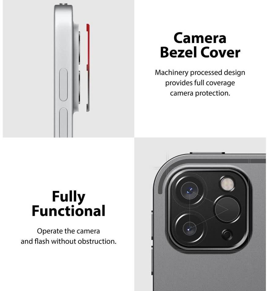 Защитное стекло на камеру Ringke Camera Styling для iPad Pro 12,9 2021/2020/ Айпад Про 11 2021/2020 - черное