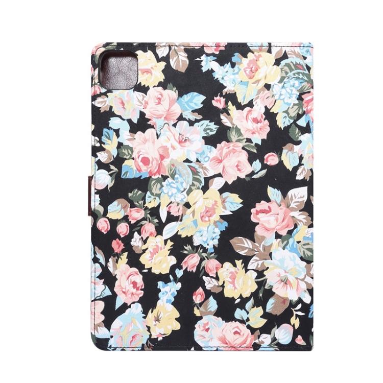 Чехол-книжка Flower Cloth Texture на iPad Air 10.9 2020 - черный