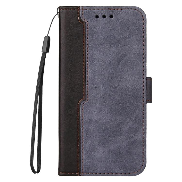 Чехол-книжка Business Stitching-Color для Samsung Galaxy S21 FE - серый