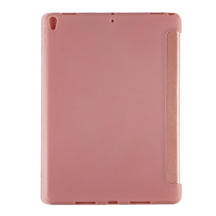 Чехол- книжка ES case Foldable Deformation с силиконовым держателем на Айпад Эйр 3 2019-розовое золото