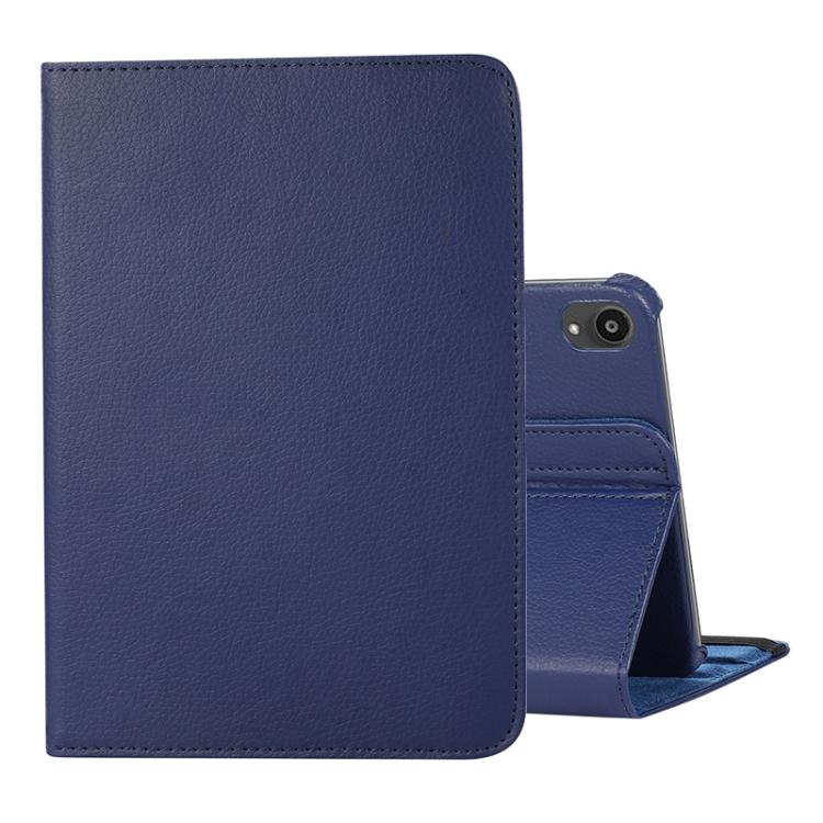Синий кожаный чехол-книжка на Айпад мини 6 2021