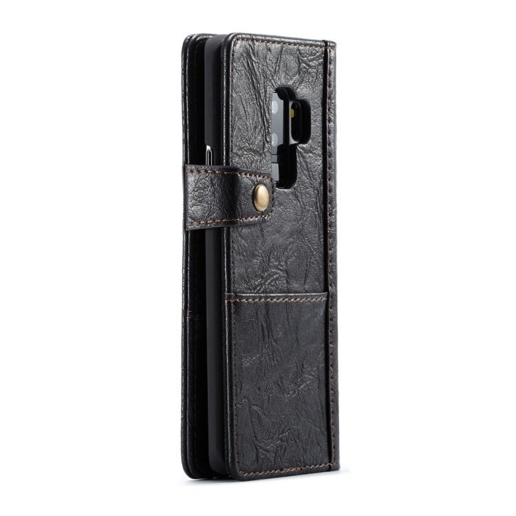 Кожаный черный чехол для Самсунг С8