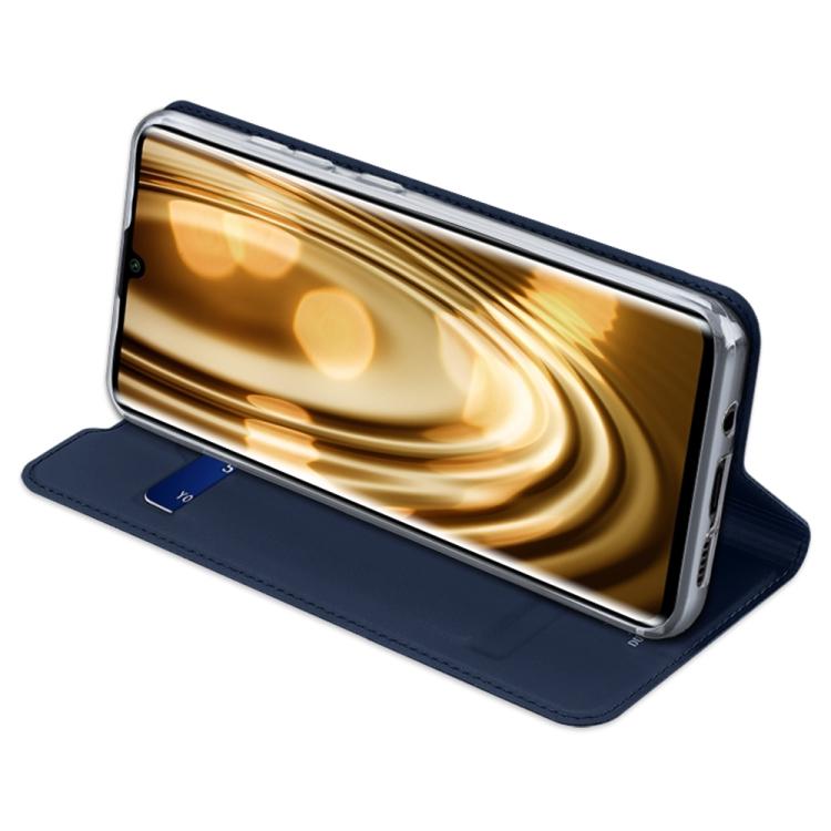 Синий кожаный чехол накладка с складной подставкой для Сяоми Ми Нот 10 Лайт