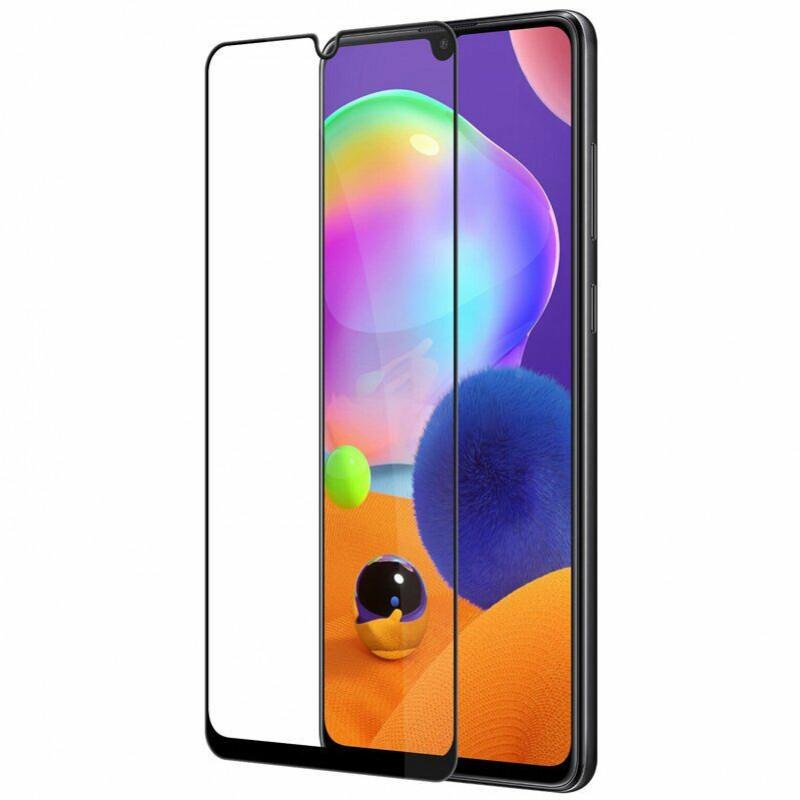 Защитное стекло XD+  full glue для Samsung Galaxy A31 - черное