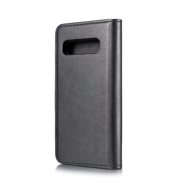 Кожаный чехол- книжка на Самсунг Галакси S10 Plus-черный