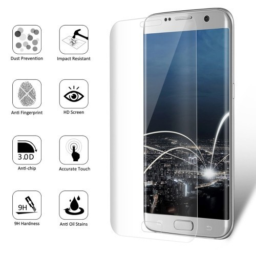 Защитное 3D Стекло на весь экран ENKAY 0.26mm 9H 3D Curved для Galaxy S7