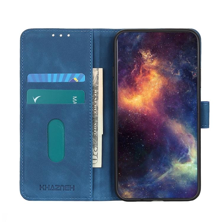 Чехол-книжка с слотами под кредитки на Айфон 12 Про Макс синего цвета