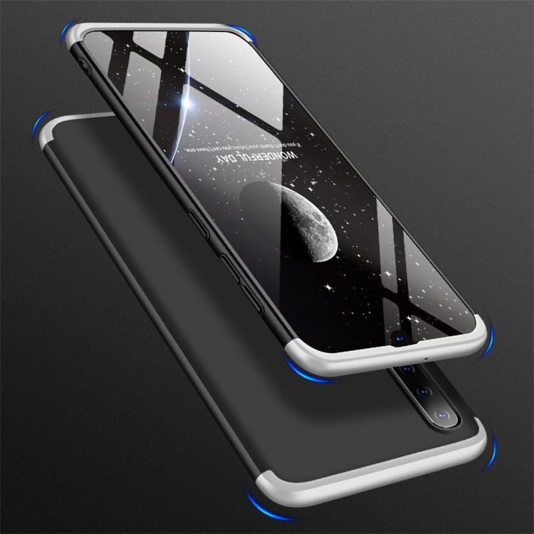 Чехол GKK Three Stage Splicing Full Coverage на Samsung Galaxy A50/A30s/A50s-темно-серебристый