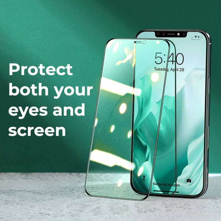 Защитное стекло JOYROOM Knight Series 9H 3D Full Screen для iPhone 12 Pro Max - зеленое