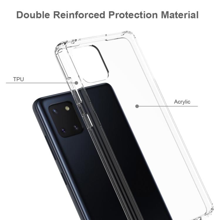 Акриловый противоударный чехол HMC на Samsung Galaxy Note 10 Lite - прозрачный