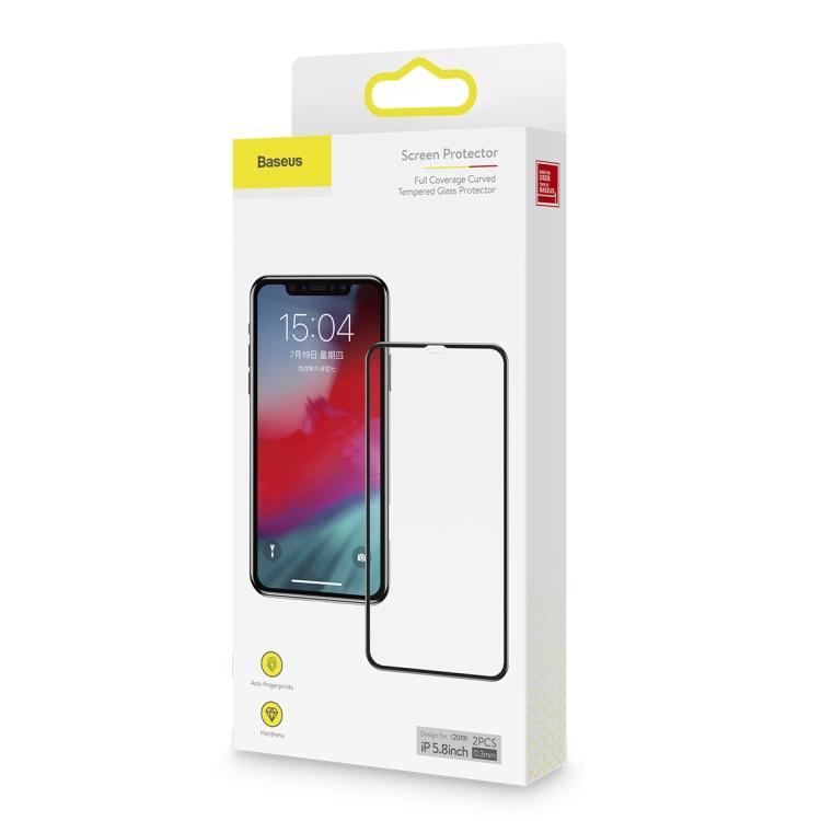 Защитное стекло с черной рамкой на Айфон 11 Про