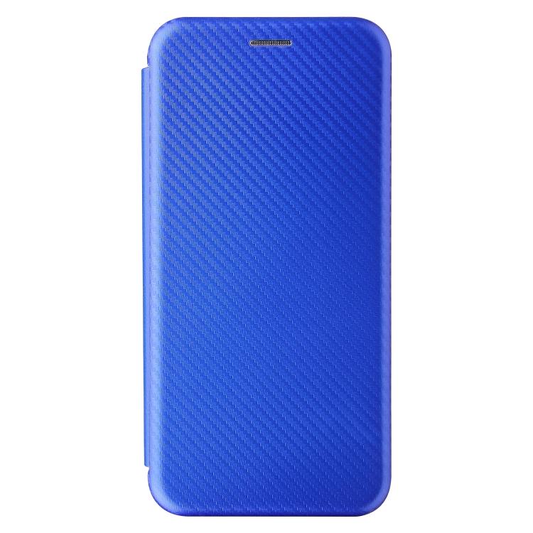 Чехол-книжка Carbon Fiber Texture на Samsung Galaxy A02 / M02 - синий