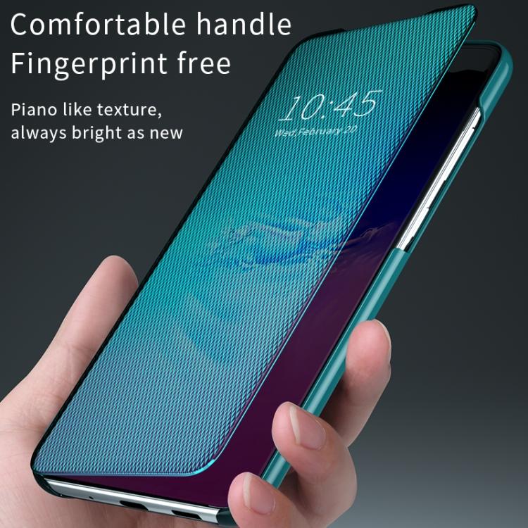 Зеркальный чехол Flip View Cover на Samsung Galaxy S20 -черный