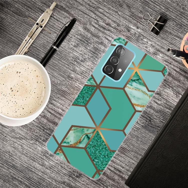 Силиконовый чехол Rhombus Green на Самсунг Галакси А72