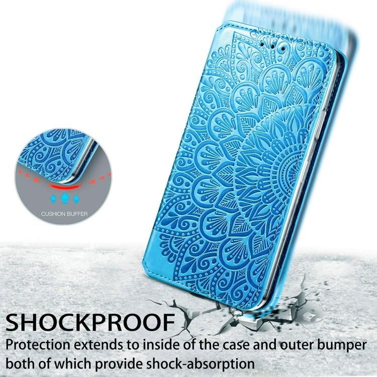 Чехол-книжка синего цвета Mandala для Samsung Galaxy A32 4G