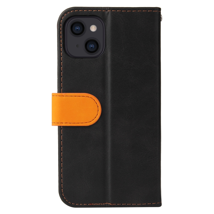 Чехол-книжка для Айфон 13 - оранжевый
