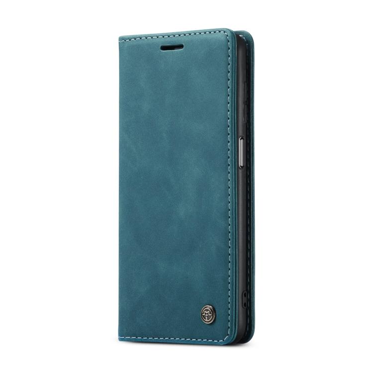 Синий кожаный чехол-книжка для Самсунг Гелекси А32