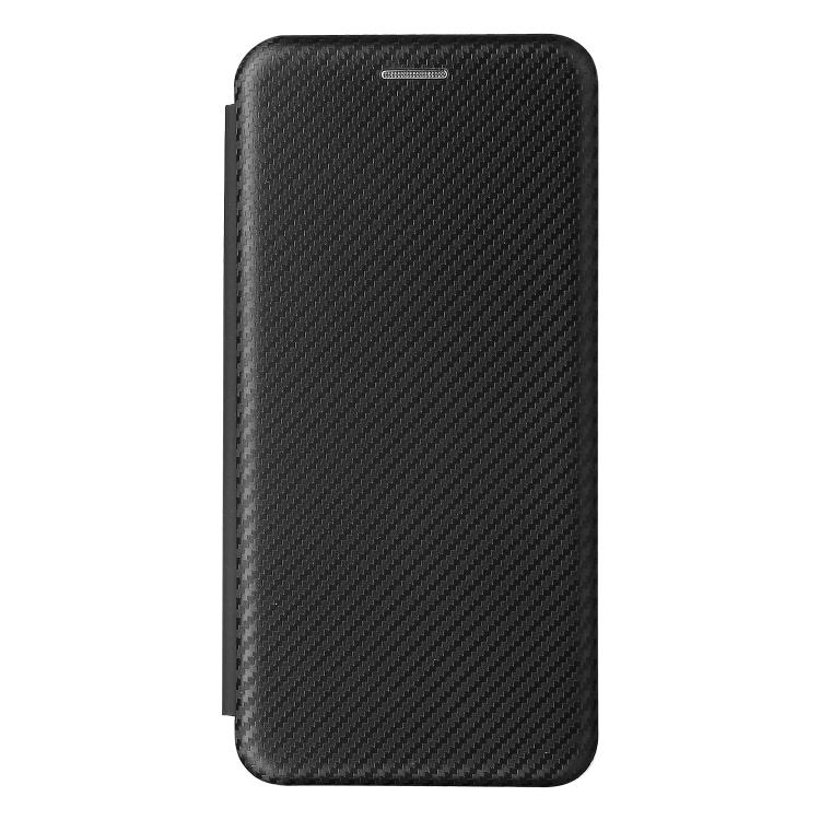 Чехол-книжка Carbon Fiber Texture на Samsung Galaxy S21 FE - черный