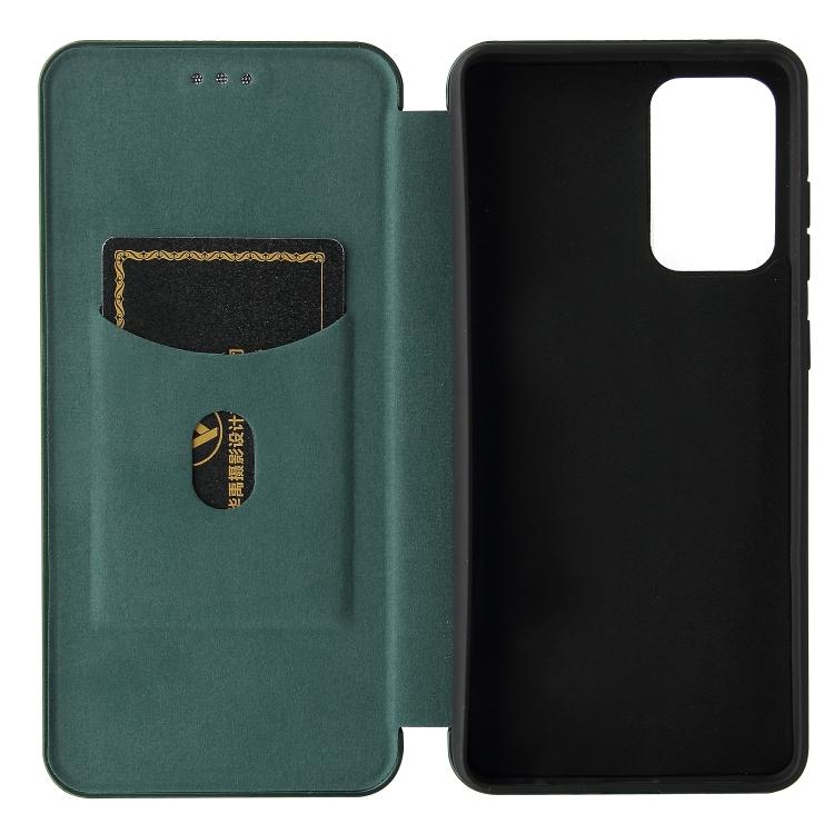 Чехол-книжка Dark Carbon Green для Samsung Galaxy A72