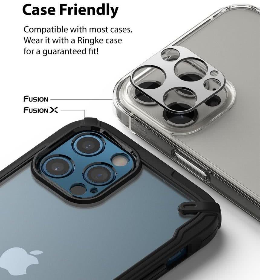 Защита камеры Ringke Camera Styling для Айфон 12 Про Макс - серебристая