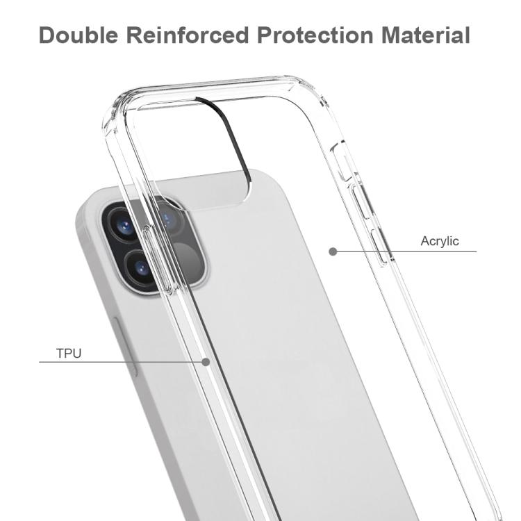 Прозрачный силиконовый чехол ударостойкий на Айфон 12