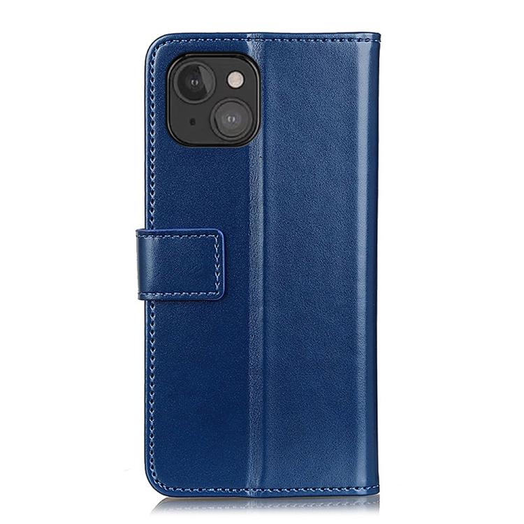 Чехол-книжка синего цвета с магнитной защелкой для Айфон 13 Мини