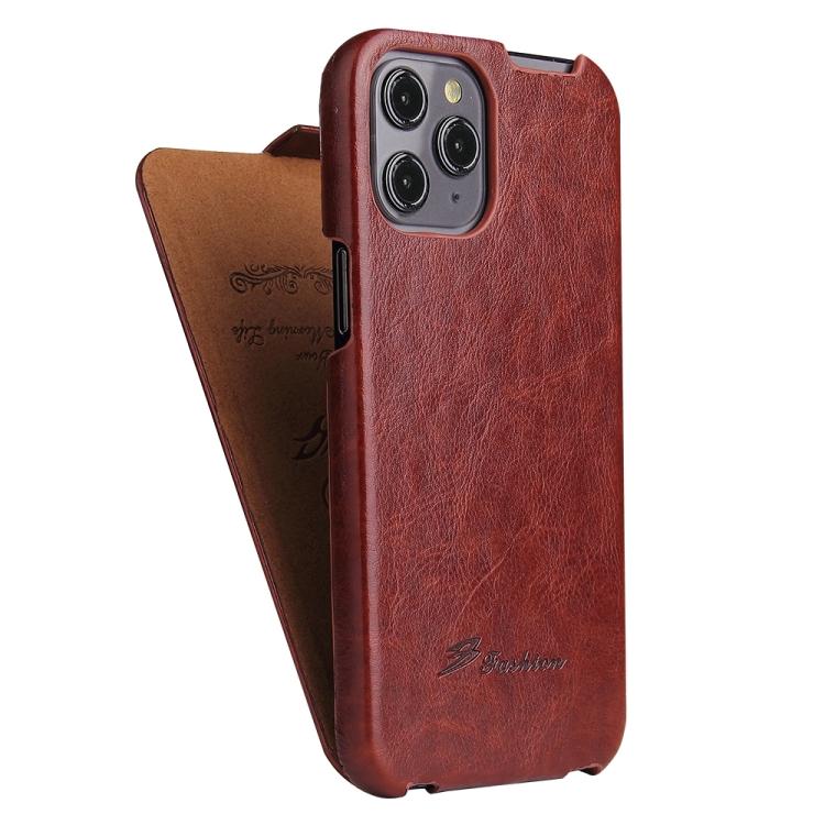 Кожаный винно-красный чехол-книжка для Айфон 12 Про Макс