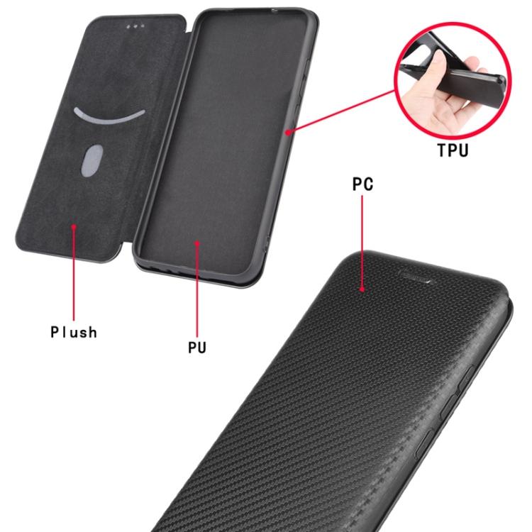 Карбоновый чехол-книжка с магнитной застежкой для Samsung Galaxy A32