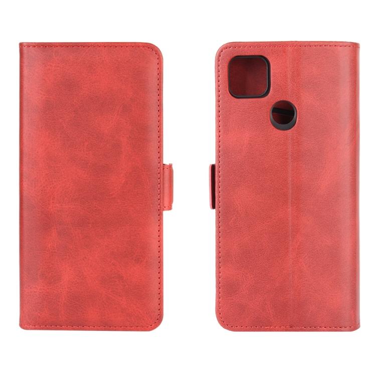 Чехол-книжка Dual-side Magnetic Buckle для Xiaomi Redmi 9C - красный