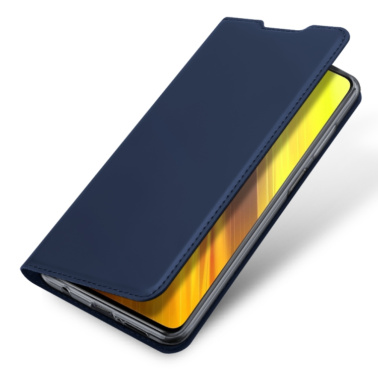 Чехол-книжка DUX DUCIS Skin Pro Series на Xiaomi Poco X3 / Poco X3 Pro - синий