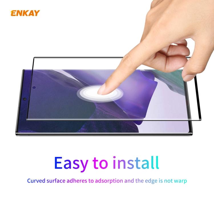 3D Защитная пленка ENKAY Hat-Prince PET Curved Heat Bending HD для Самсунг Галакси Нот 20 Ultra - черная