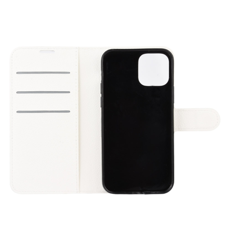 Чехол-книжка с слотами под кредитки на Айфон 12 белого цвета