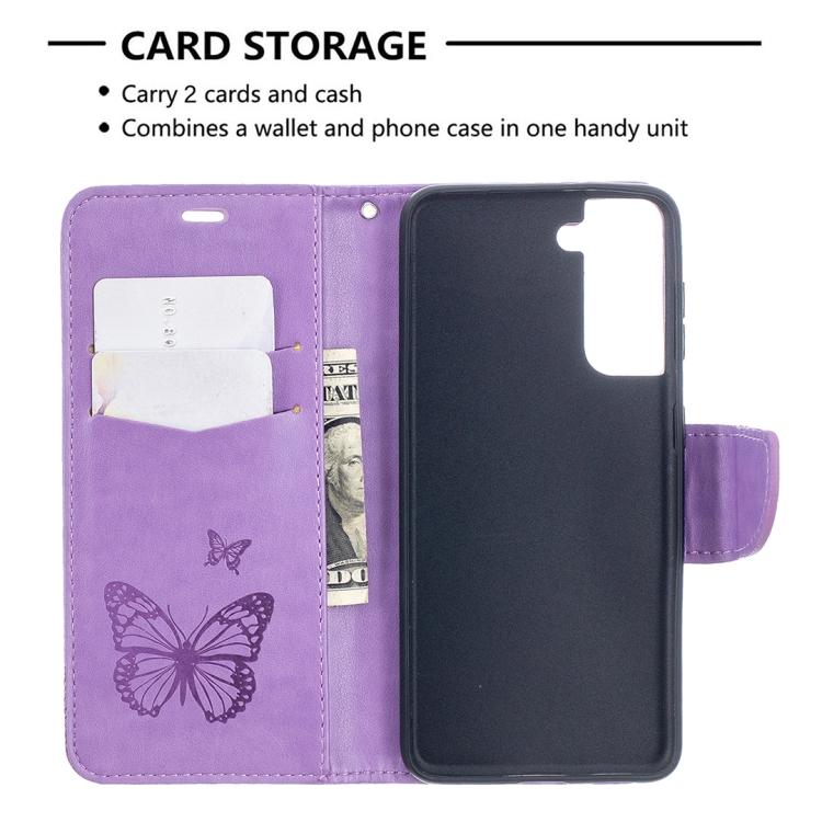 Чехол-книжка слоты для карт для Samsung Galaxy S21 фиолетовый