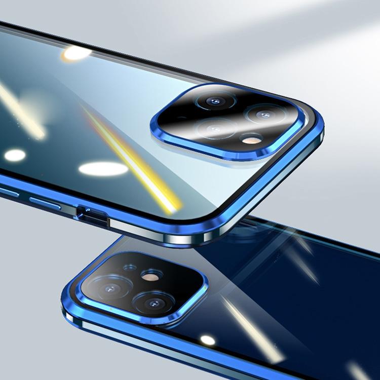 Синий магнитный чехол для Айфон 12  Мини