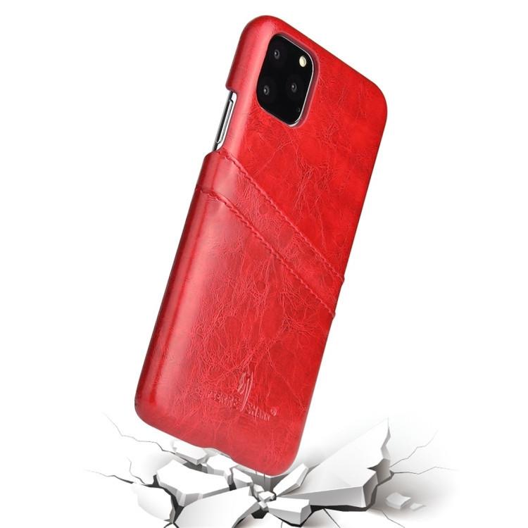 Кожаный чехол на iPhone 11 Pro- красный