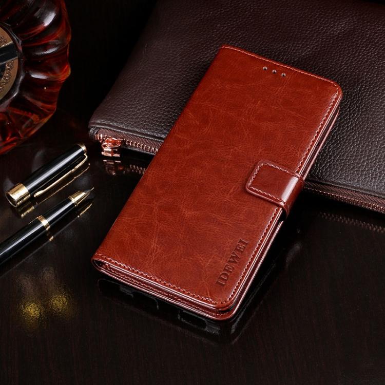 Коричневый чехол-книжка idewei Texture на Samsung Galaxy A32