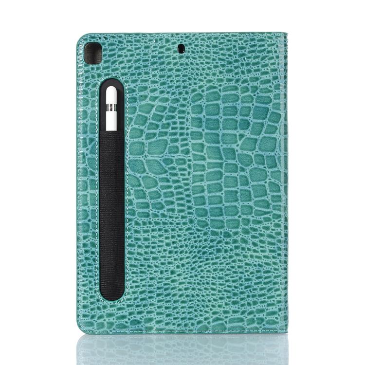 Кожаный Чехол Crocodile Texture зеленый для iPad 8/7 10.2 (2019/2020)