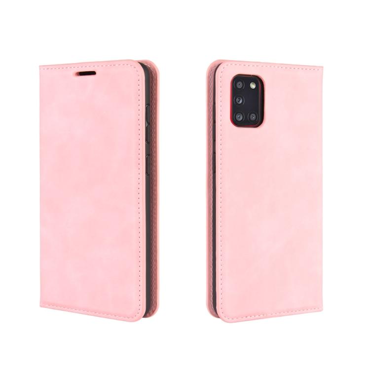 Чехол- книжка Retro Skin Feel Business Magnetic на Samsungr Galaxy A31 - розовый