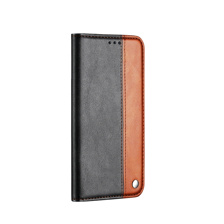 Коричневый противоударный чехол-книжка на Айфон 13 Мини