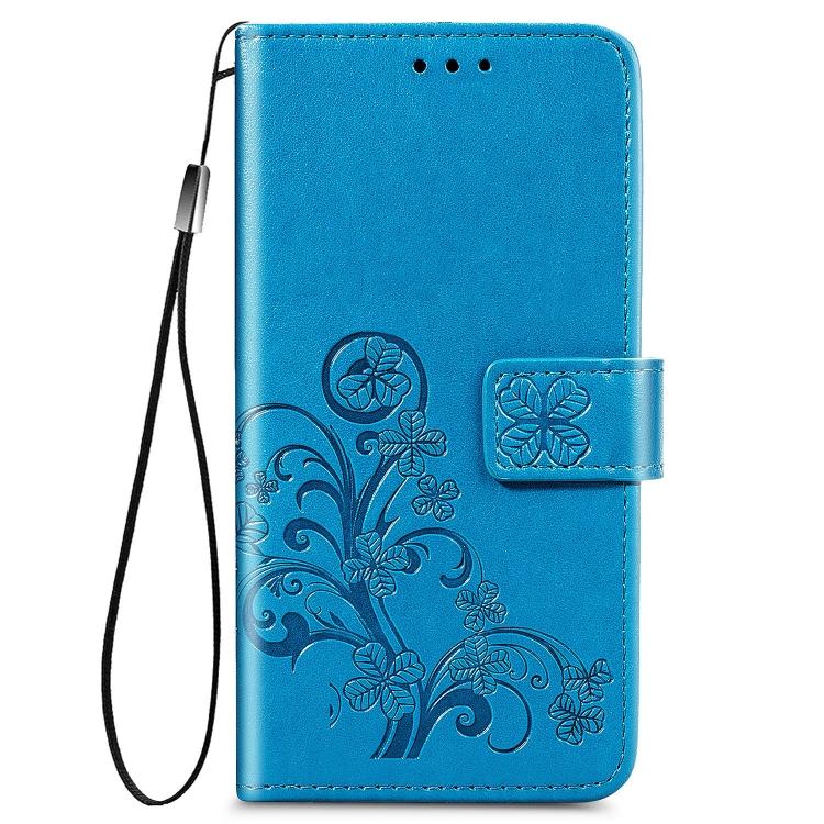 Синий кожаный чехол-книжка для Сяоми Редми 9А