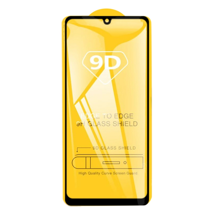Защитное Стекло 9D Full Glue на весь экран на Samsung Galaxy A31 - черное