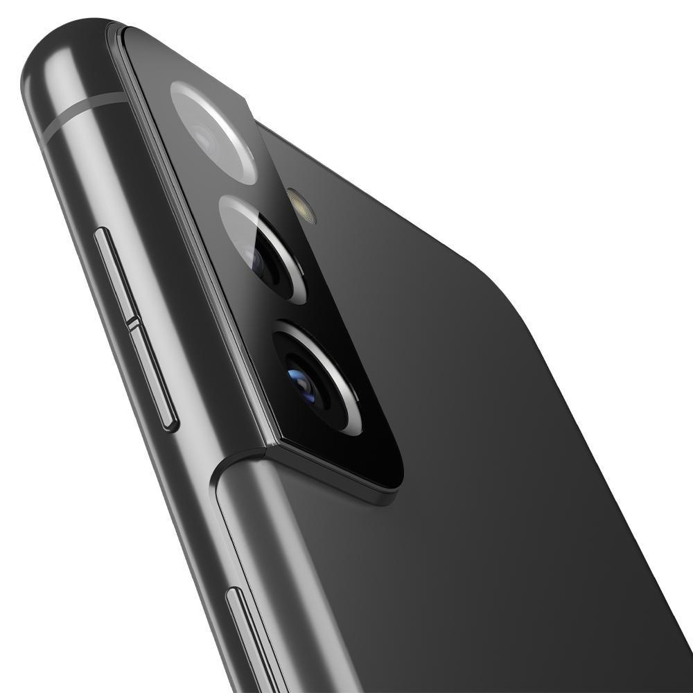Защитное стекло на камеру Spigen Optik.Tr Camera Lens для Samsung Galaxy S21 Plus Black