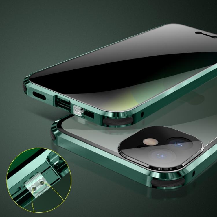 Чехол двухсторонний магнитный для Айфон 12 Про Макс - красного цвета